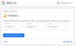 choose analytics account