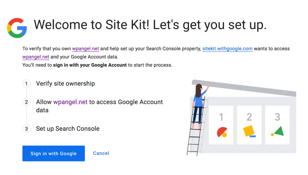 welcome to site kit