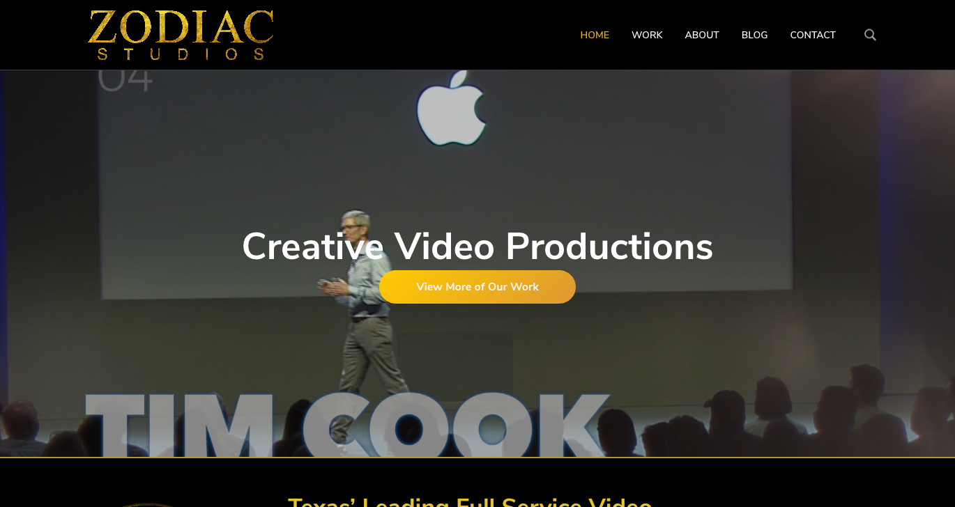 Zodiac Studios WordPress Website