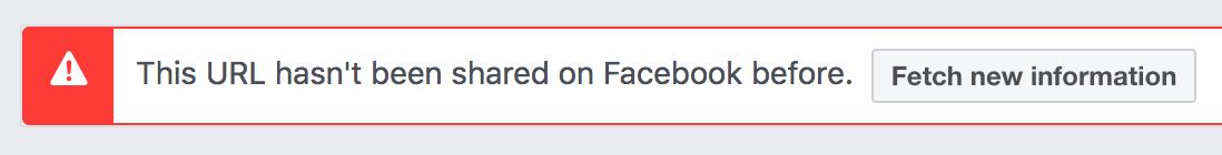 facebook debugger warning