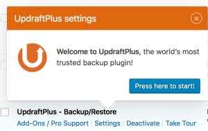 updraft plus backup plugin