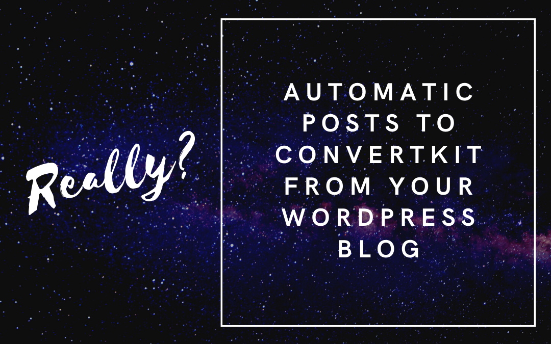 post to convertkit from your blog
